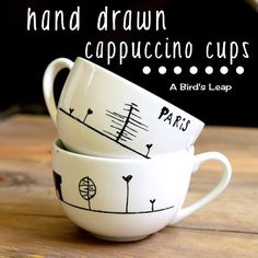 A Bird's Leap: 19th: DIY Paris Cappuccino Cups