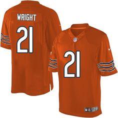 $89.99 Men's Nike Chicago Bears #21 Major Wright Limited Alternate Orange Jersey