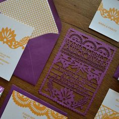 Laser cut invitations...