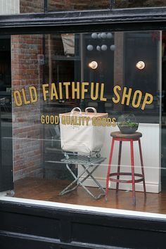 Our friends at Old Faithful Shop with their new hand lettered signage.