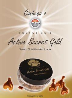 Conheça o Bulgaricu's Active Secret Gold da TopTherm - um serum nutritivo antiidade elaborado com probióticos anti-sinais que garantem o equilíbrio da sua microflora facial e reduzem as marcas de expressão por muito mais tempo. Ligue 08007707900 ou acesse www.toptherm.com.br e conheça o nosso mais novo lançamento!