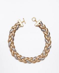 Two-Tone Braided Snake Chain Necklace - Ann Taylor
