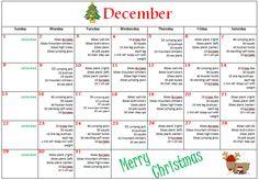 December Calendar workout!!