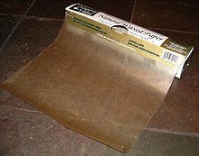 "Wax Paper-  ""Place between pages to protect the completed pages, when working in your art journal. Also, will prevent pages from sticking that may still  be tacky from uncured glue, or paint."""