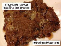 5 ingredient German Chocolate Brownies