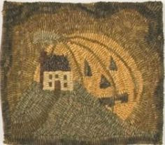 Jack O Lantern Moon RUG Hooking Pattern ON Monk'S Cloth BY Need'L Love | eBay