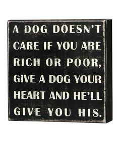 A Dog Doesn't Care