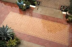Avente Tile Project: A cement tile patio #rug for all Seasons