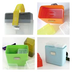 OOTS! Eco-friendly Lunchbox is composed of stackable containers, in cool modern colors.
