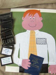 badg, name tags, church games, craft, missionari