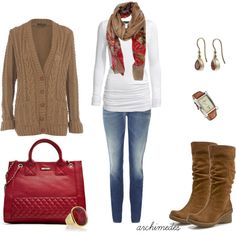 boot, day outfits, colors, fall outfits, polyvore, fall styles, purses, bags, cold weather
