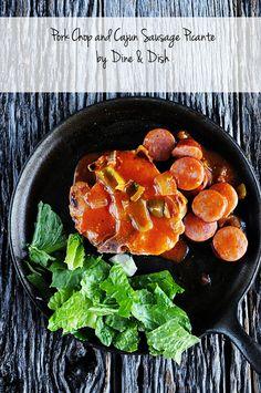 Pork Chop and Cajun Sausage Picante