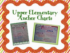 Need some anchor chart inspiration for your next lesson? Here is an entire Pinboard of Upper Elementary Anchor Charts.