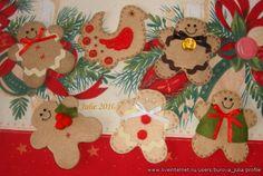 beautiful felt Christmas tree ornaments