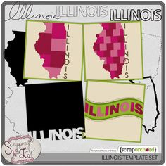 Illinois Template Set  $3.75 at Scrap Orchard