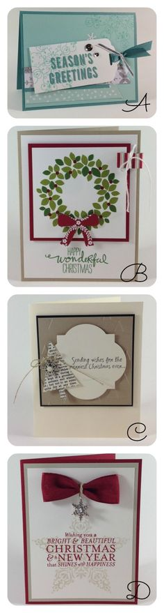 Gorgeous Christmas Cards that you can make in BULK!