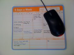 This creative idea for a mousepad will help you keep your desk and your life organized. Constantly seeing a calendar is a great reminder for important events. #Organize