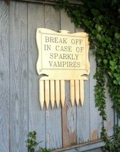 What should be done with sparkly vampires...