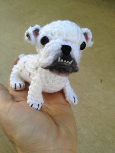 Bulldog amigurumi by CraftyisCool1, via Flickr