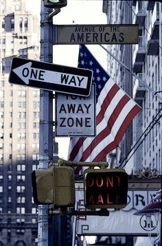 Sixth Avenue #manhattan #nyc #newyork #newyorkcity #street #signs #americas #oneway #flag