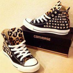 Leopard studded Converse