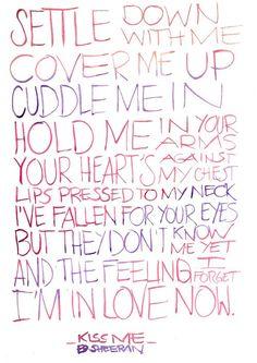ed sheeran song quotes, music, life, songs, inspir, song lyric, kiss me ed sheeran lyrics, live, kisses
