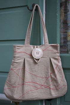 Linen bag~sew simple!