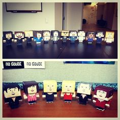 Team @Julie Park Marketing made miniature.