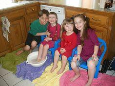 Holy Thursday - Foot washing  - Love this (make me a saint blog)