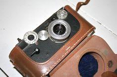 Vintage camera on his shelf