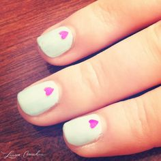 wear your heart on your #nails! {too cute}