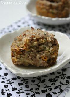 muffins de carne moída