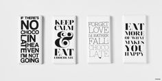 Typography Chocolate Bar Wrappers
