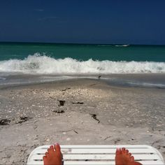 Toes in the sand!!  Boca Grande, FL.