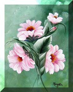 mari hildesheim, touch paint, stroke art, paint video, paintings, one stroke painting tutorials
