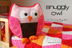 owl pillows, quilt, pillow patterns, snuggl, snugg owl, owls, kid, christmas gifts, owl patterns