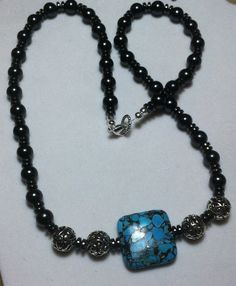 Luv the black pearls and Turquoise combo ..