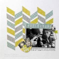 Scrapbooking with 2TinyTreasures: Washi Tape Scrapbook Layout