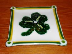 Fused Glass St. Patrick's Day Plate - March 2011