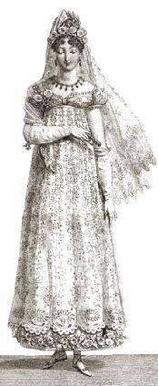 """Wedding ensemble, """"Journal des Dames,"""" 1813."""