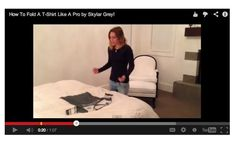 Skylar Grey shows her amazing trick for folding a t-shirt in SECONDS!  One Good Thing By Jillee