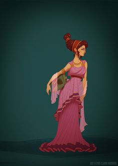 Girl, you can't conceal it by Claire Hummel.  Disney Historical Princesses.  Meg / Megara, Hercules #fanart