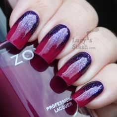 Foil gradient over Zoya gloss collection.  More colors in the blog!