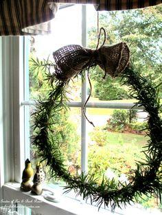 Make a Fresh Rosemary Wreath  (Garden of Len & Barb Rosen)