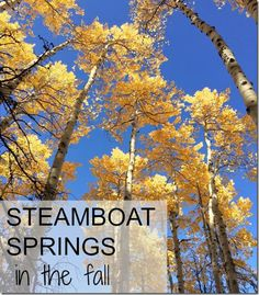 Steamboat Springs in the Fall -- make the most of 48 hours in this incredible mountain town! @trainerpaige #trailtime #colorado #fallcolors #colorfulcolorado