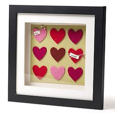 Valentines shadow box