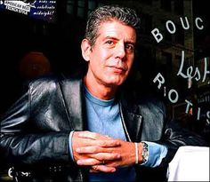 Anthony Bourdain. It's a decadence thing. peopl, leather jacket, les hall, foods, favorit, chef anthoni, anthoni bourdainpessimist, travel, anthony bourdain