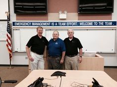 Where TEEX Trains -  Bob Bradley, Richard Moore and Vince Rose stand for a photo  at our latest Threat & Risk Assessment course delivery in Volusia County, FL.   #TEEX