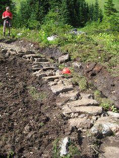 hillsid step, slope step, naturalist step