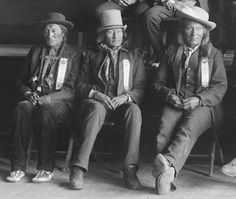 1888 Sioux delegation to Washington: from left to right: Little Chief, Cheyenne; Little Hawk; Little Wound, Oglala